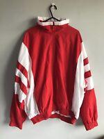 Puma Men's Windbreaker - XL - Cool Red And White - Vintage / Retro