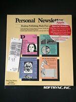 Softsync Personal Newsletter Apple IIGS, IIe & IIc 1987 Vintage Software *NEW*