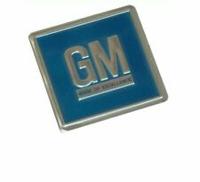 1969-79 GM Embossed Metal Foil Door Jamb Adhesive Decal Badge Blue Sticker