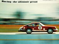 1968-69 PORSCHE 911 RACING *ORIGINAL AD* 911S/911T/Targa/wheels/steering/bumper