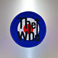 The Who Patch  — Iron On Badge Embroidered Motif — Mod Roundel Music Band Rock