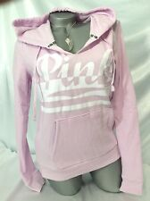 VICTORIAS SECRET PINK HOODIE MEDIUM PULLOVER LOGO SWEATSHIRT PURPLE NWT