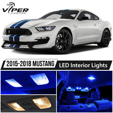 2015-2018 Ford Mustang Blue Interior LED Lights Package Kit