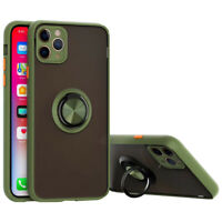 For iPhone 11 pro Max Shockproof Case with Camera Lens Slim Rotation Ring Cover