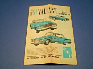 "SMP ""1961 Valiant 3 in 1 series "" Original model kit Instruction sheet"