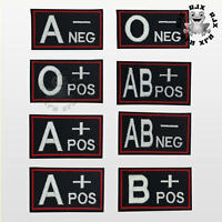 Blood Group Name Square Patch Iron On Patch Sew On Embroidered Patch