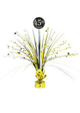 Add Any Age Gold Birthday Party Table Centrepiece