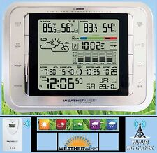 DIGITAL ATOMIC ALARM CLOCK WEATHER STATION INDOOR OUTDOOR TEMPERATURE DESK WALL