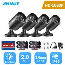 Annke 4x Full 1080P Cctv Camera 2Mp Home Smart Ir Security Surveillance System