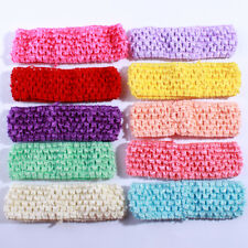 120PCS 4CM Fashion Crochet Elastic Band Hollow out Knit Headband For Hairband