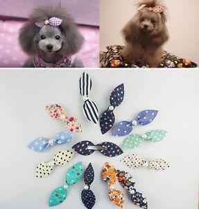 20 PCS Sweet Long Rabbit Ears Pet Dog Cat Puppy Grooming Hair Bow Hair Clips