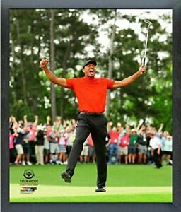 """Tiger Woods 2019 Masters Tournament Photo (Size: 12"""" x 15"""") Framed"""