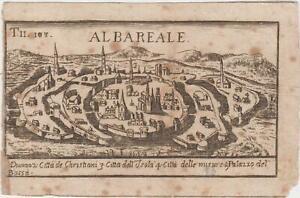 Incisione Thomas Salmon Veduta di Alba Reale 1700 c.a.