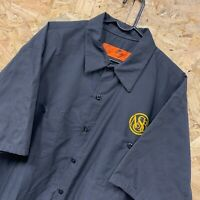 Vintage RED KAP Workwear Work Short Sleeve Shirt Charcoal Grey USA Size XL