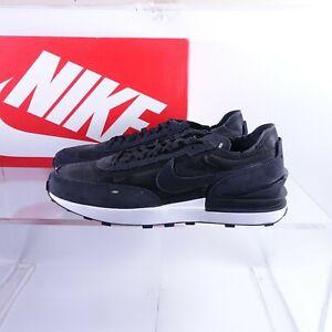 Size 15 Men's Nike Waffle One Shoes DA7995-001 Black/White/Orange