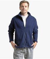 Knocker Men's Polar Fleece Jacket Full Zip-Up Long Sleeve Sz XL Navy Pockets
