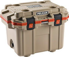 New Pelican Elite 30QT Marine Cooler/Ice Chest Made in USA #30Q-2-TANORG