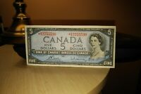 1954 Replacement $5 Dollar Bank of Canada Banknote *RX7755530