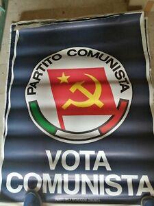MANIFESTO POSTER PARTITO COMUNISTA PCI FALCE MARTELLO POLITICO  ORIGINALE
