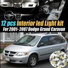 12pc White Car Interior LED Light Bulb Kit for 2001-2007 Dodge Grand Caravan