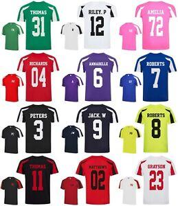Personalised Sports T-Shirt - Customised Printed Football Club Team Name Number