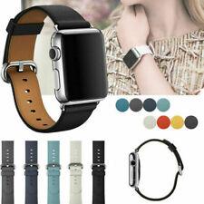 Leder Armband Ersatz Für iWatch Apple Watch Series 5/4/3/2/1 40/44/38/42mm DE