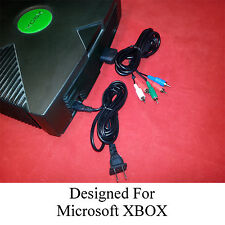 Component A/V Cable + AC Power Cord for the XBOX Original (AV Audio Video)