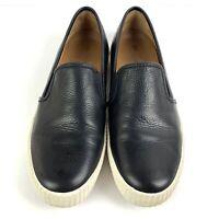 Frye Womens Dylan Shoes 10 Black Leather Slip On Loafer Comfort Flats