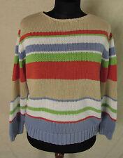 Grobe Damen-Pullover & -Strickware aus Baumwolle Gestreifte