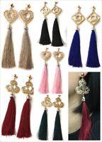 Super Long Funky Tassel Chandelier Dangle Party Earrings - Pierced or Clip On