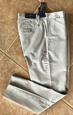 Polo Ralph Lauren Flat Front Chino Pants Mens 36 x 30 Soft Gray Classic Fit NWT