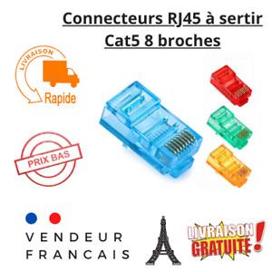 Lot 1 à 20 fiches RJ45  CAT5 à sertir LAN Prise Connecteurs RJ45 8 broches