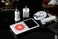 APPLE iPod Classic 7th Generation 160GB Upgraded to 256GB SSD (thin) Red/White