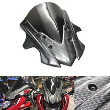 Motorcycle Windshield Windscreen For Honda CBR650F 2017 With Carbon Fiber Look