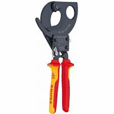 """Knipex Insulated 2"""" Capacity Ratchet Action Cable Cutters 21586"""