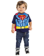 Dc Comics Superman Baby Infant Boy Superhero Bib Saliva Towel With Cape