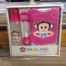 Small Paul Frank Pink Baby Julius Gift Set Bib Burp Cloth Bottle Pacifier Clip