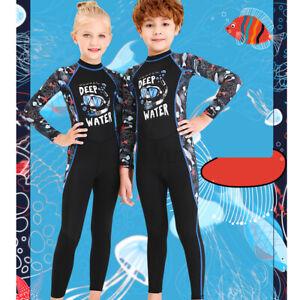 2.5MM Anti-UV Boy Girls Child Full Length Wetsuit Junior Long Wet Suit   + #