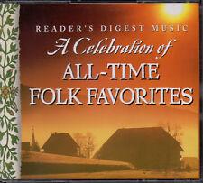 Celebration Of All-Time Folk Favorites  - Reader's Digest 4 CD Box - 74 Tracks