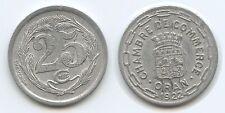 G1139 - Algeria Oran 25 Centimes 1922 KM#TnE5 Token Coinage Algerien