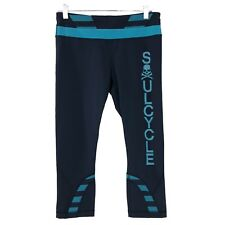 8f88c2184 Lululemon Soul Cycle Run Inspire Crop Pants Skull Blue Teal NWT Women s  Size 8