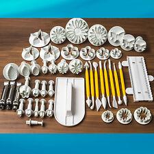 46 - tlg. SET Ausstecher Fondant Modellierwerkzeug Glätter Kuchen Ausstecherform