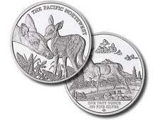 5 - 1 oz. 999 Fine Silver Rounds- Pacific Northwest Series #1- Blacktail Deer-BU