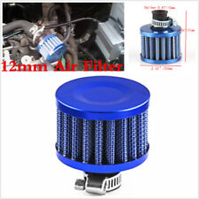 Car Motor 12mm MINI AIR OIL VENT VALVE BREATHER FILTER FITS MOST CARS BLUE CONE