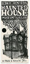 "Vintage Brochure: ""Judge Hunter's Haunted House - Museum & Gallery"" [Canada]"