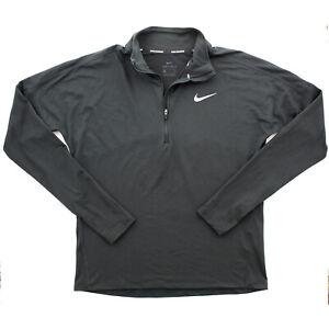 Nike Element Women's Dri-Fit Quarter Zip Running Workout Pullover Top, Black