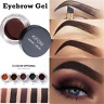 5 Colors Eyebrow Cream Tint Waterproof Pomade Gel Enhancer Eye Brow w/ Brush JP