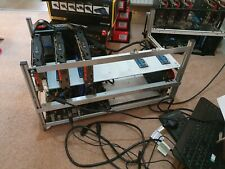 More details for potential 19 gpu mining rig (only 4x rx580 currently) -  115mhs eth