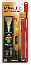 MAGLITE: #SP2203H Mini Maglite LED 2-Cell AA RED Flashlight. MADE IN USA!