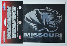 University of Missouri Tigers Window Graphic - Silver Chrome Vinyl Decal 4x5
